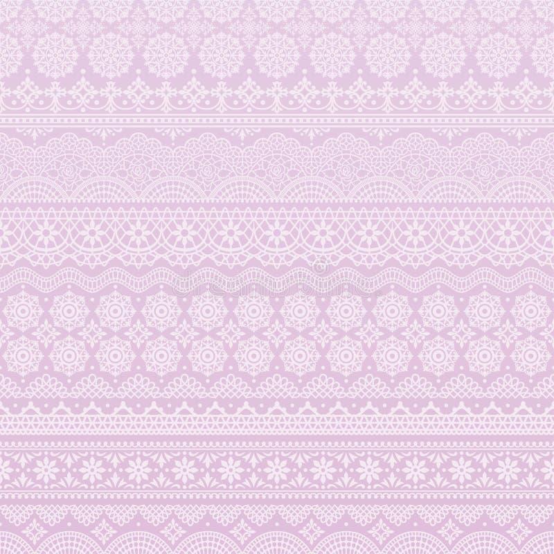 Fondo púrpura de los ajustes del cordón stock de ilustración