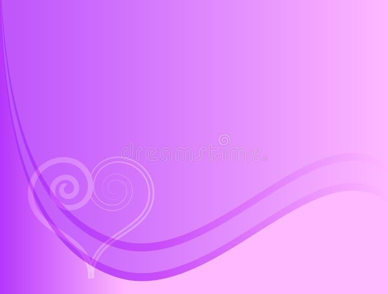 Fondo púrpura del amor stock de ilustración