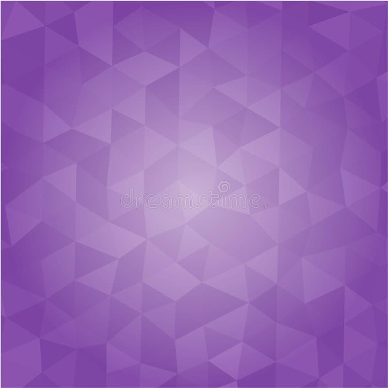 Fondo púrpura del vector del extracto del polígono Diseño gráfico libre illustration