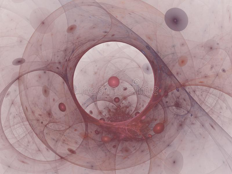 Fondo púrpura digital del extracto perfecto Vortextunnel, ejemplo 3d ilustración del vector