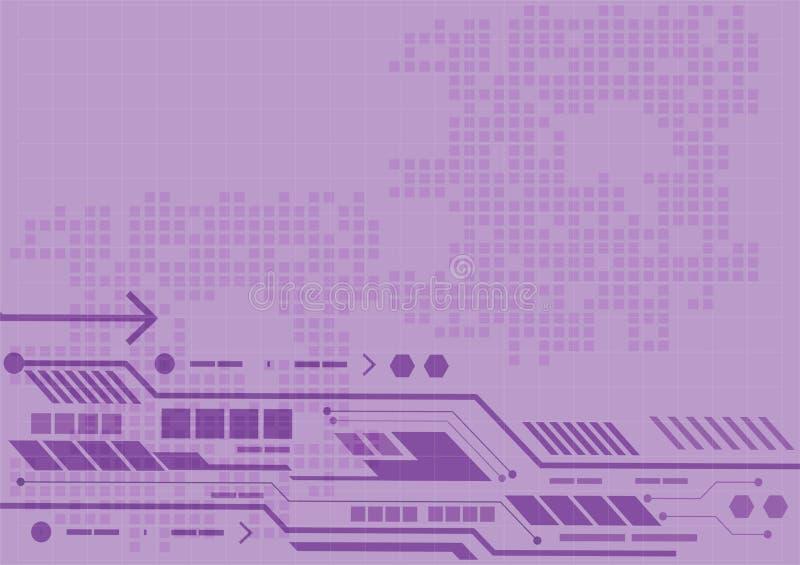 Fondo púrpura digital, tecnología del extracto del vector para el concepto del negocio, ejemplo del vector libre illustration