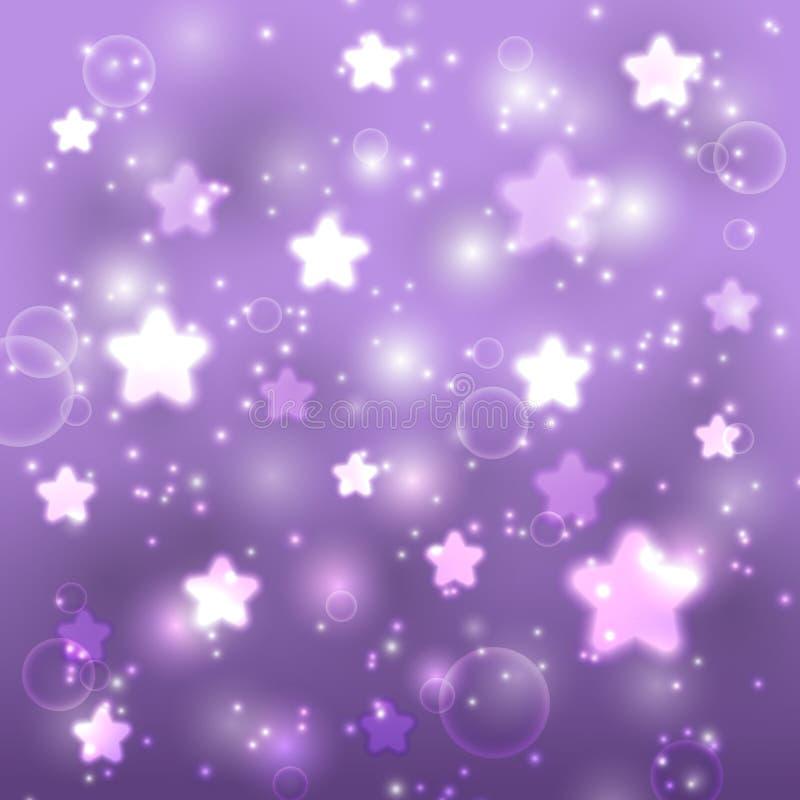 Fondo púrpura estrellado ilustración del vector
