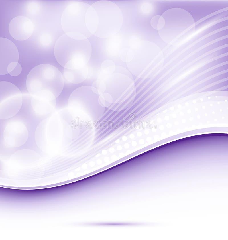 Fondo púrpura ondulado abstracto para el diseño ilustración del vector