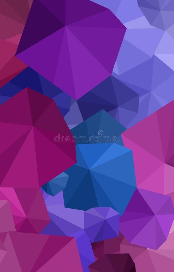 Fondo púrpura poligonal del arte del paraguas fotos de archivo libres de regalías