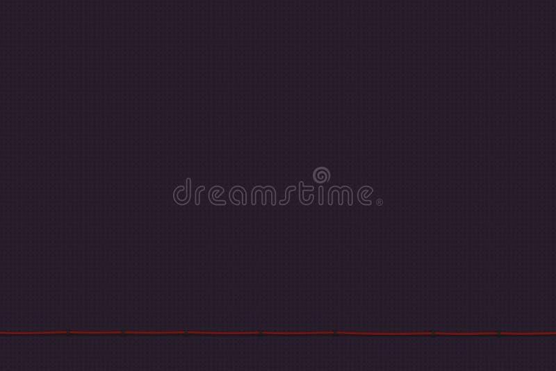 Fondo púrpura texturizado Concepto mínimo de la vista delantera Ejemplo plano de la endecha 3D ilustración del vector