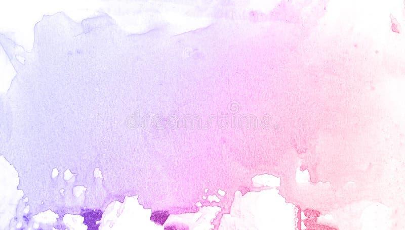 Fondo púrpura y azul de la acuarela abstracta del cepillo, coche del ejemplo de la trama foto de archivo libre de regalías