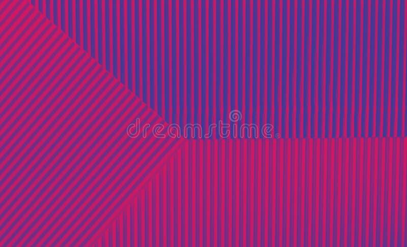 Fondo púrpura y azul geométrico en colores de moda stock de ilustración