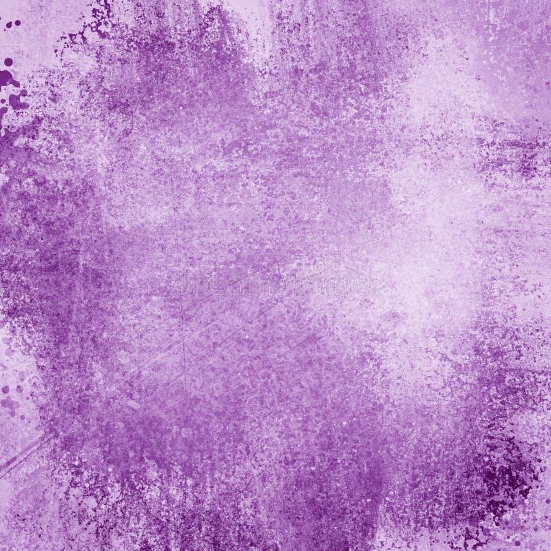 Fondo púrpura y blanco oscuro con textura del vintage y porciones de grunge aherrumbrado, de contexto elegante y hermoso hermoso ilustración del vector