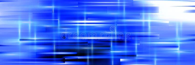 Fondo panoramico blu dell'estratto per uso nella progettazione illustrazione vettoriale