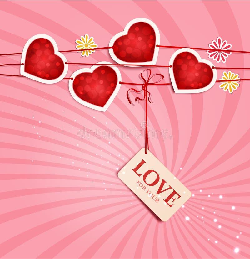 Fondo para el día de tarjeta del día de San Valentín libre illustration