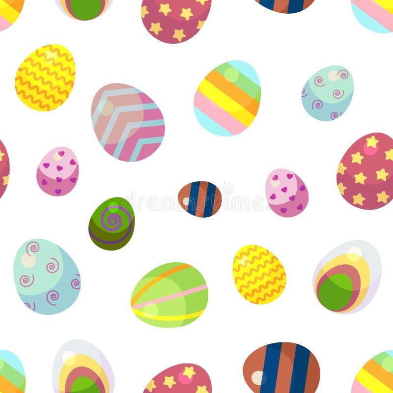 Fondo para el día feliz de Pascua ilustración del vector