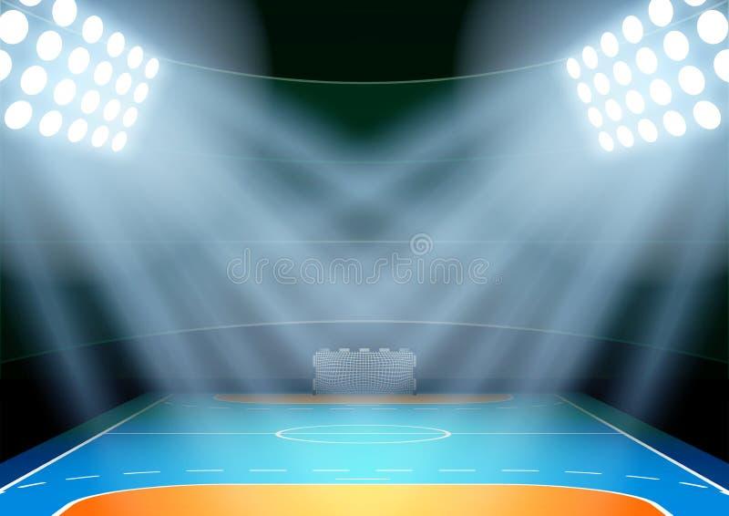 Fondo para el estadio del multisport de la noche de los carteles libre illustration