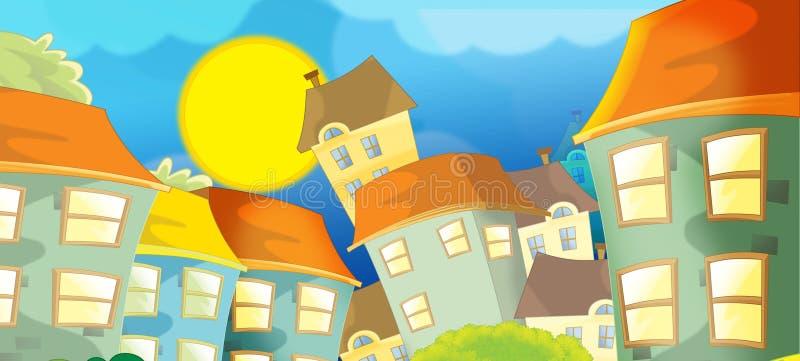 Fondo para el uso diverso - animación - ejemplo - ejemplo para los niños stock de ilustración
