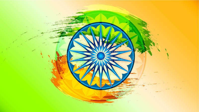 Fondo para la república india para la celebración india del Día de la Independencia de la república ilustración del vector