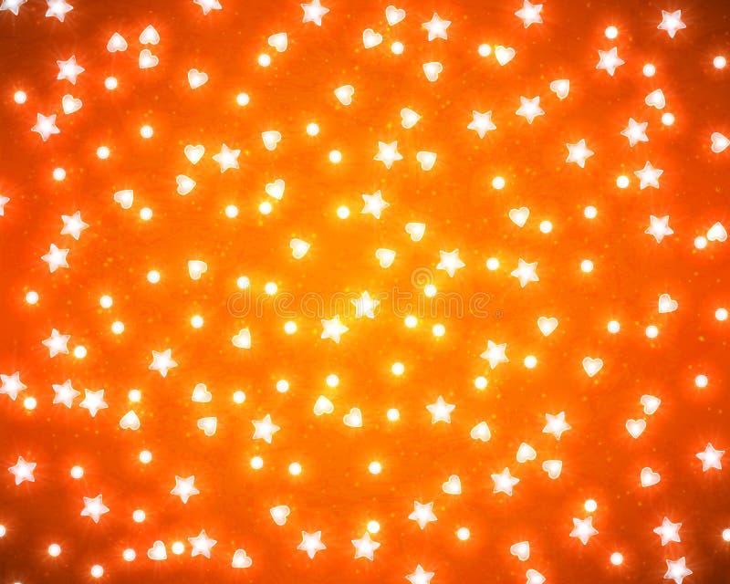 Fondo para la tarjeta de la Feliz Navidad y de la Feliz Año Nuevo con las luces chispeantes realistas Vector ilustración del vector