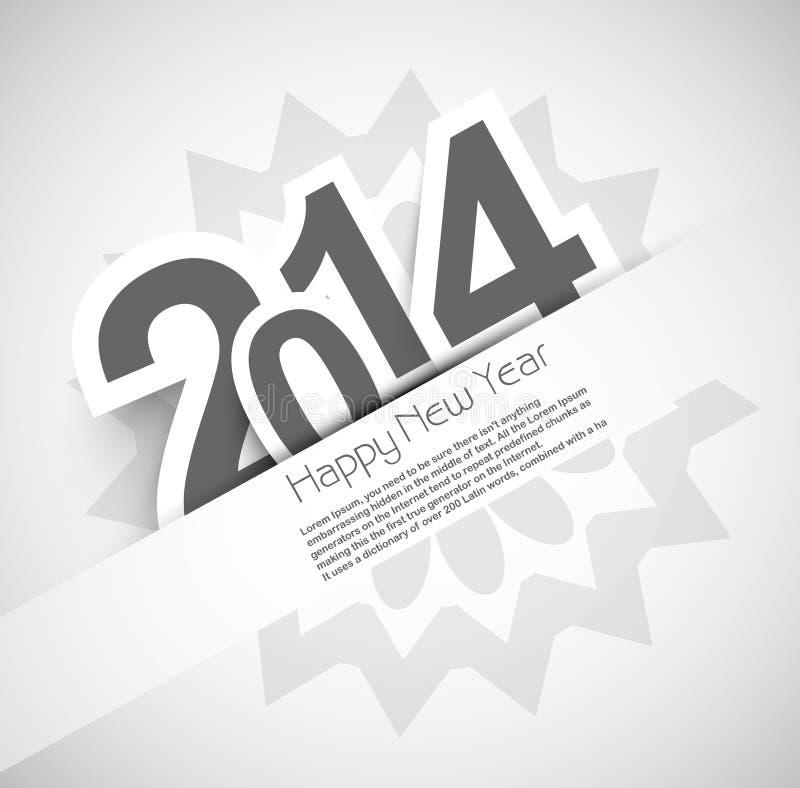 Fondo para la tarjeta 2014 de la celebración del Año Nuevo libre illustration