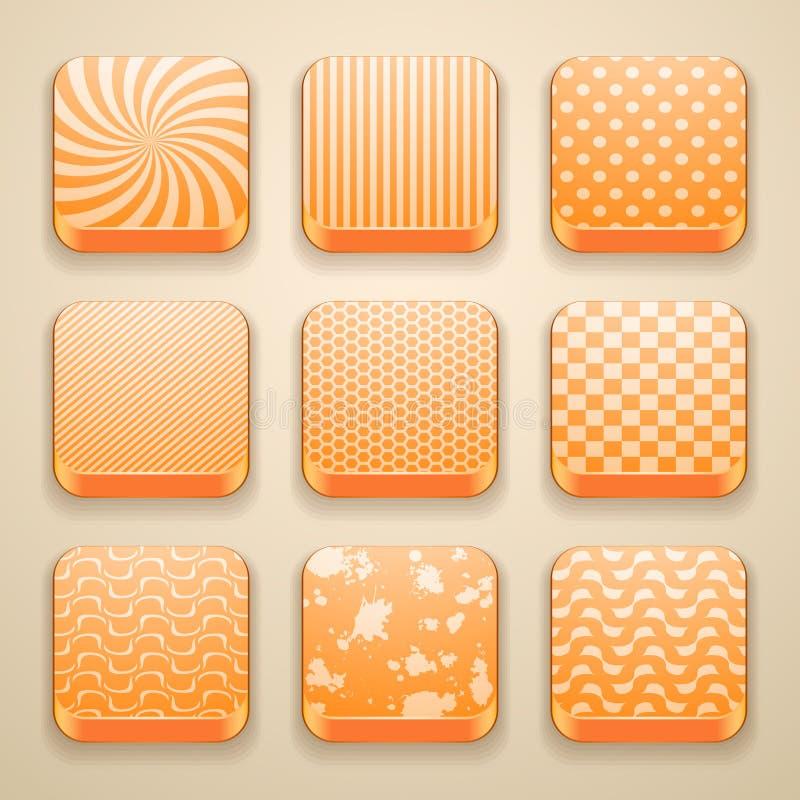 Fondo para los iconos del app ilustración del vector