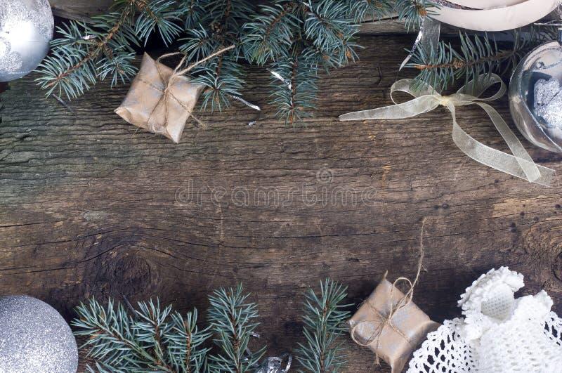 Fondo para los saludos de la Navidad fotos de archivo libres de regalías
