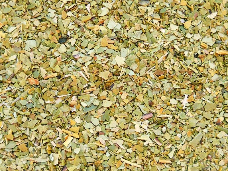 Fondo paraguayo de la textura del té del compañero del yerba fotos de archivo