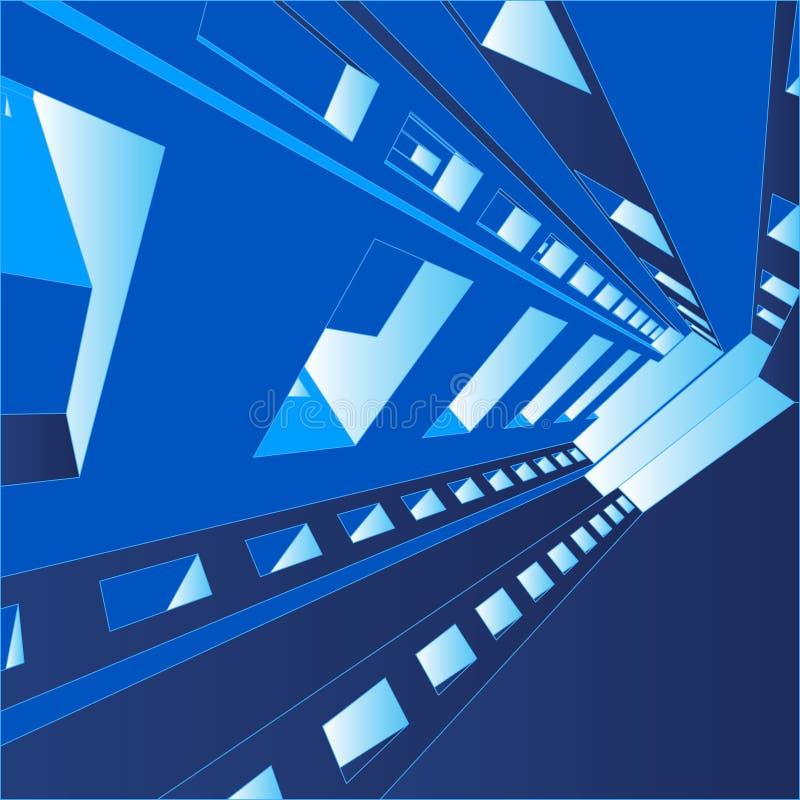 fondo Pasillo del vector 3D stock de ilustración