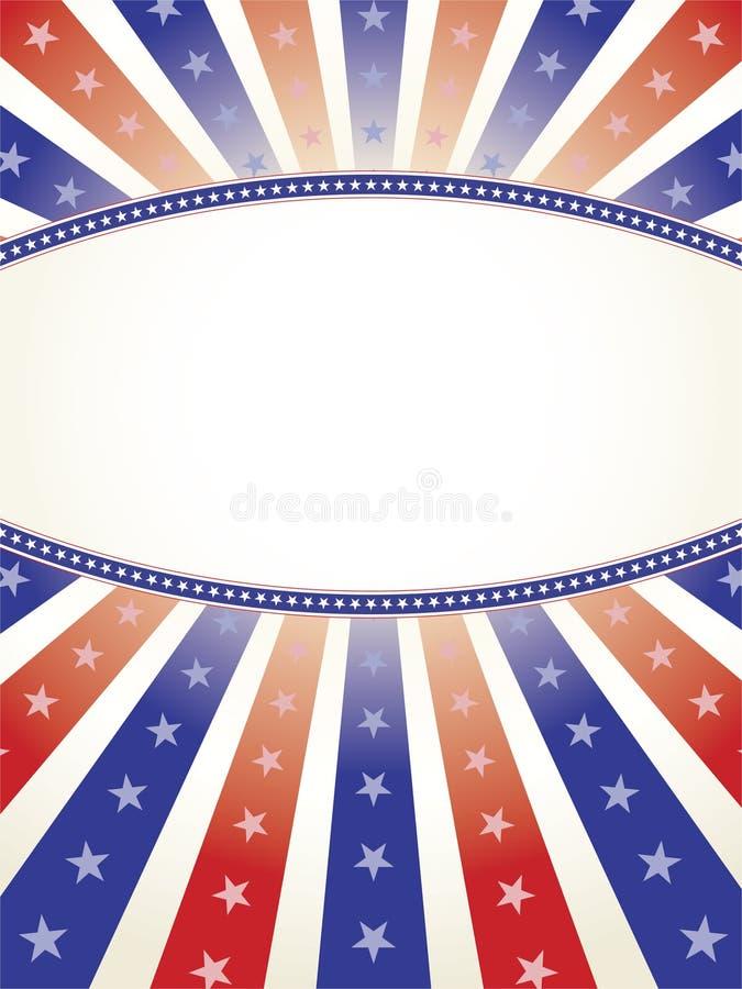 Fondo patriótico con el espacio oval de la copia imágenes de archivo libres de regalías