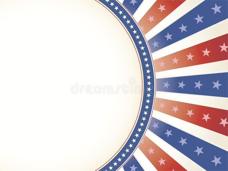 Fondo patriótico con el espacio oval de la copia imagen de archivo