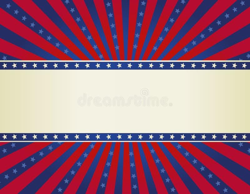 Fondo patriótico de la frontera libre illustration