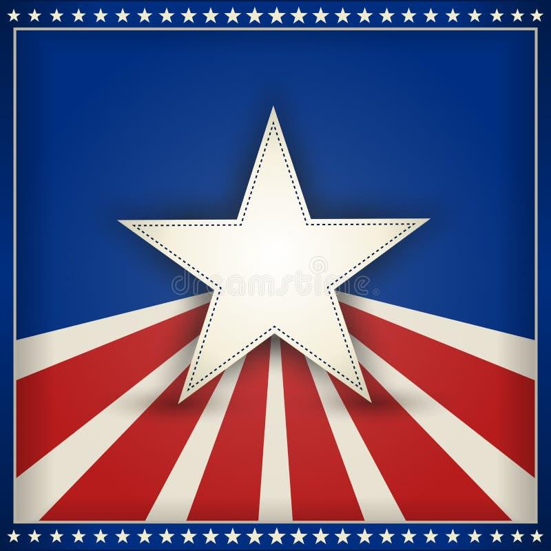 Fondo patriótico de los E.E.U.U. con las estrellas y las rayas stock de ilustración
