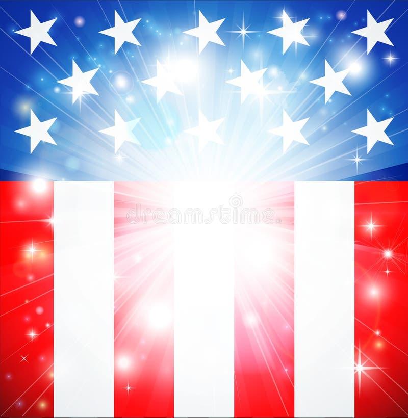 Fondo patriótico del indicador americano ilustración del vector