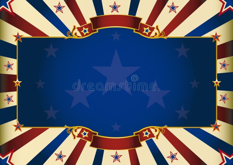 Fondo patriótico horizontal fantástico ilustración del vector