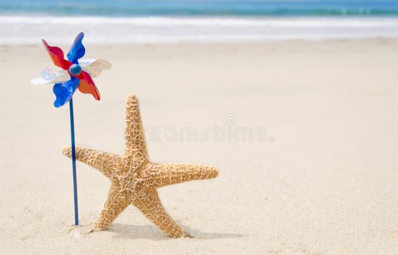 Fondo patriottico di U.S.A. con le stelle marine fotografia stock