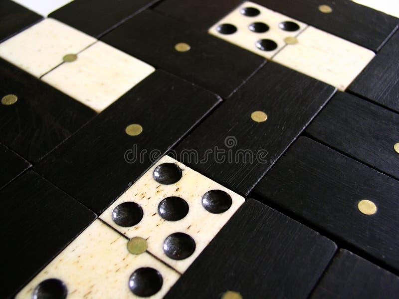 Fondo - pedazos del dominó foto de archivo libre de regalías