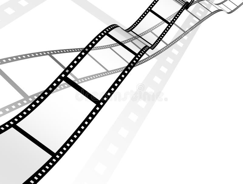 Fondo - película fotográfica abstracta 3d stock de ilustración