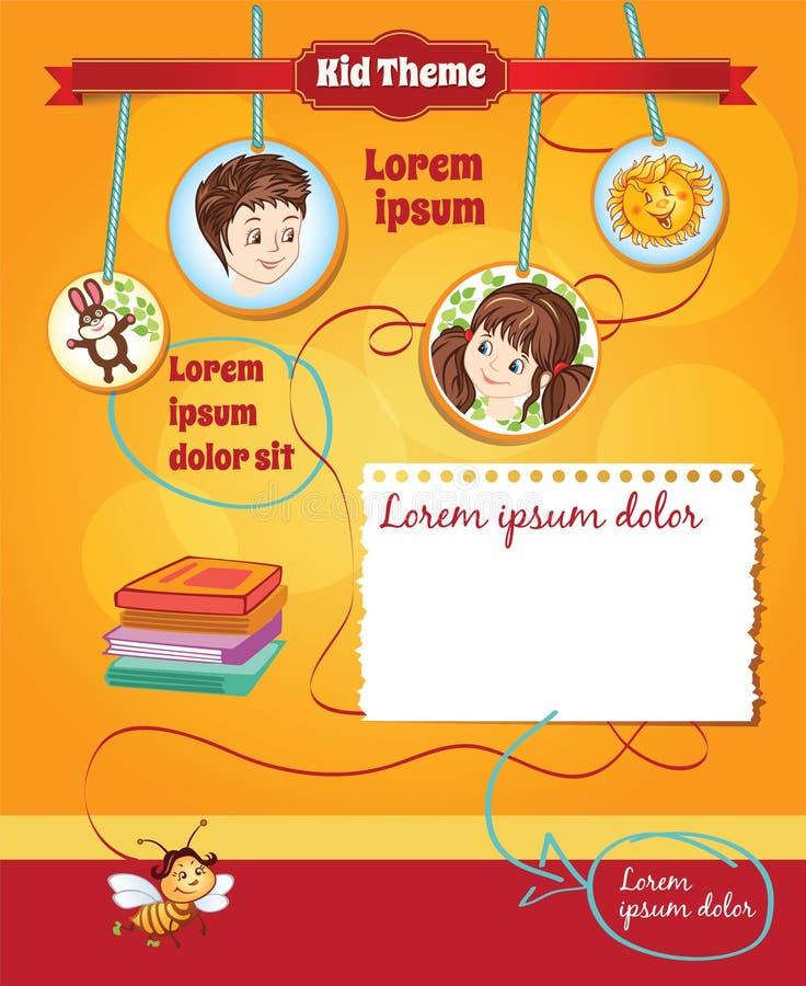 Fondo per il modello del bambino royalty illustrazione gratis