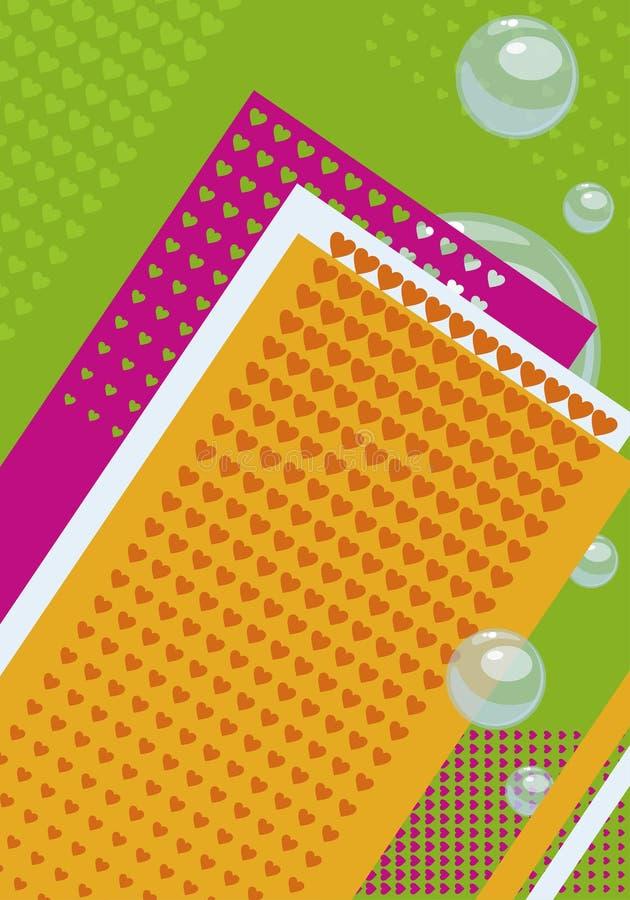 Fondo per la copertura nei colori di contrapposizione luminosi, con le bolle royalty illustrazione gratis