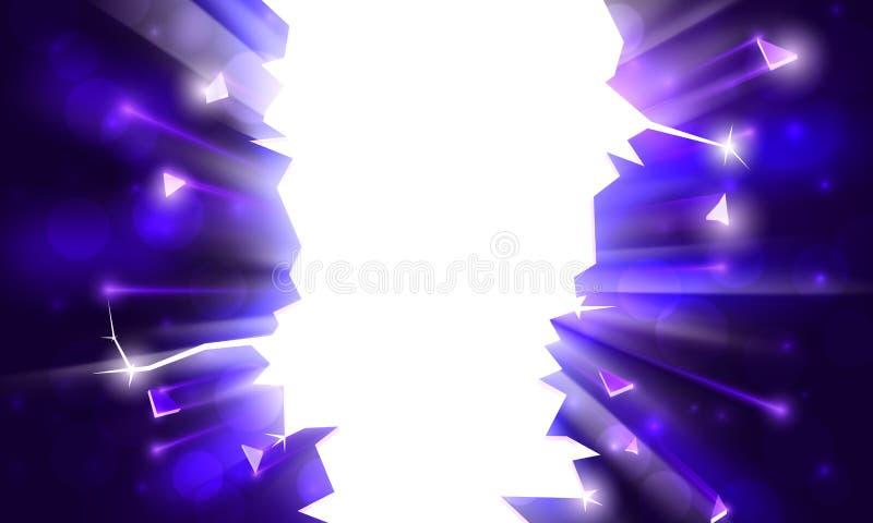 Fondo per un partito esplosivo, struttura luminosa con le scintille Raggi di luce, scintille del bokeh su fondo di un'innovazione royalty illustrazione gratis