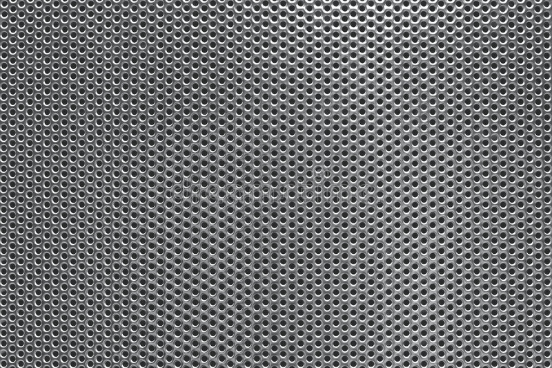 Fondo perforado gris del metal imagen de archivo libre de regalías