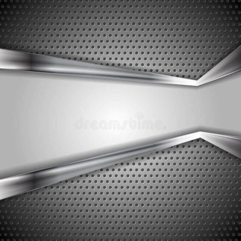 Fondo perforato astratto del metallo illustrazione di stock