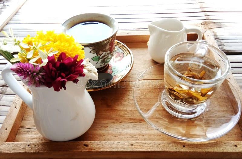 Fondo piacevole del tè & del caffè immagini stock libere da diritti