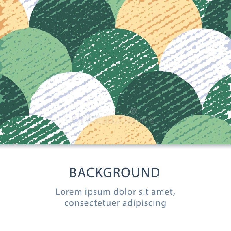 Fondo piano astratto, modello variopinto dei cerchi, contesto creativo, illustrazione di vettore illustrazione vettoriale
