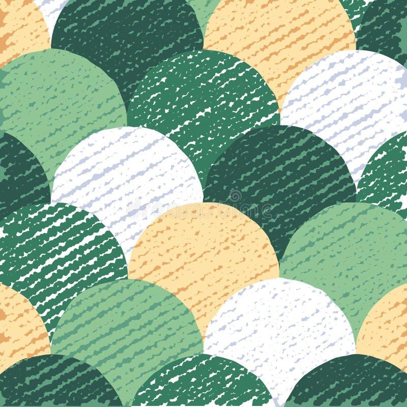 Fondo piano astratto, modello variopinto dei cerchi, contesto creativo, illustrazione di vettore illustrazione di stock