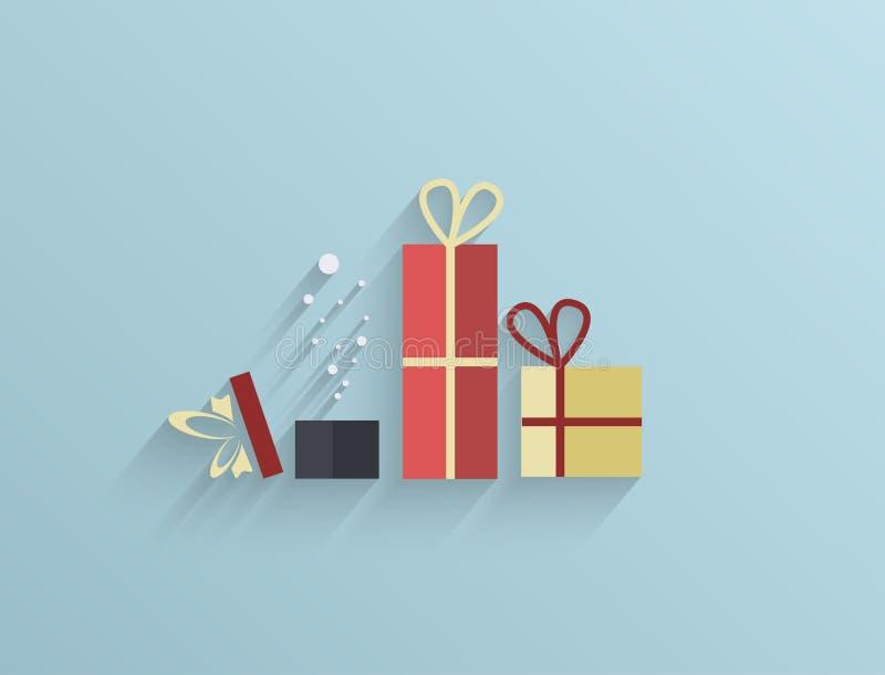 Fondo piano dei regali di vettore. Eps10 illustrazione vettoriale