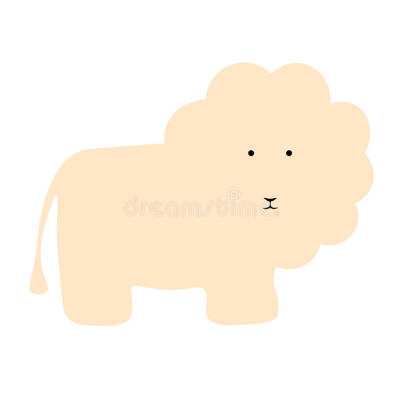 Fondo piano dell'animale dell'illustrazione del leone di vettore illustrazione vettoriale