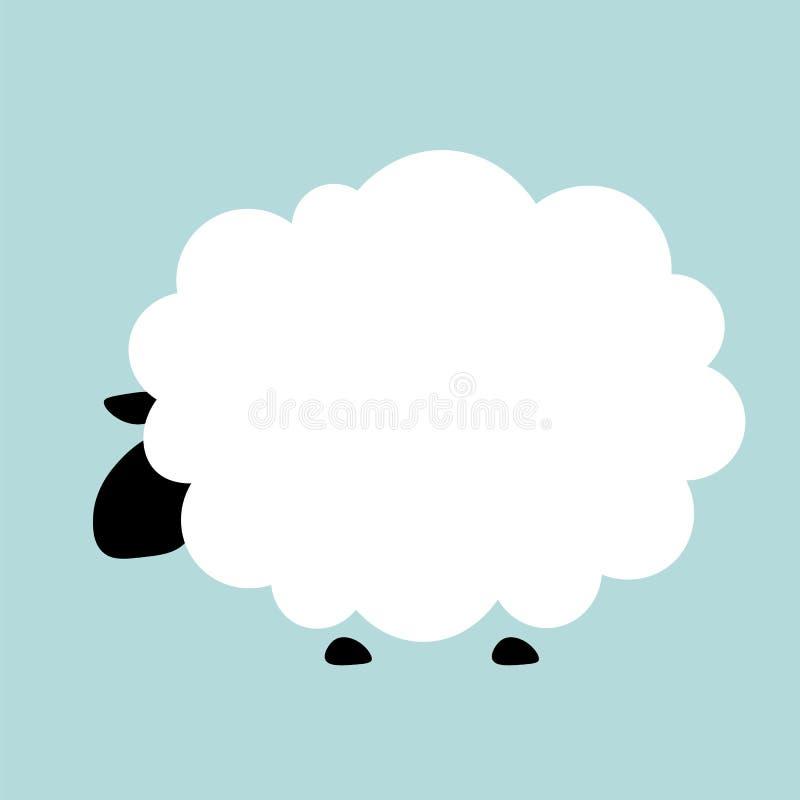 Fondo piano dell'animale dell'illustrazione delle pecore di vettore royalty illustrazione gratis