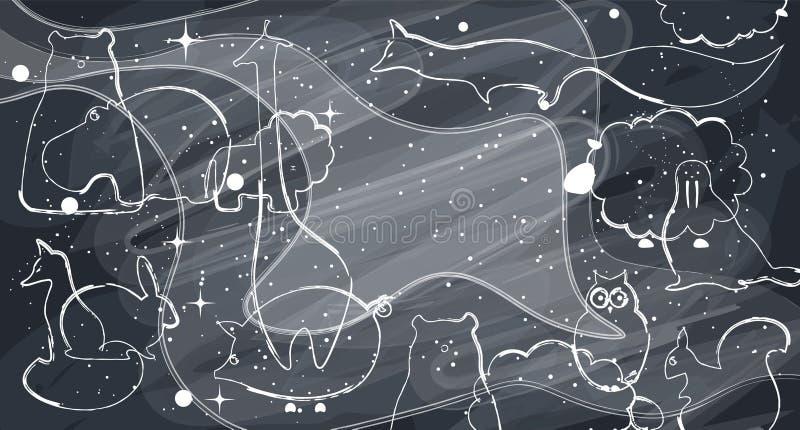 Fondo piano dell'illustrazione degli animali di vettore royalty illustrazione gratis