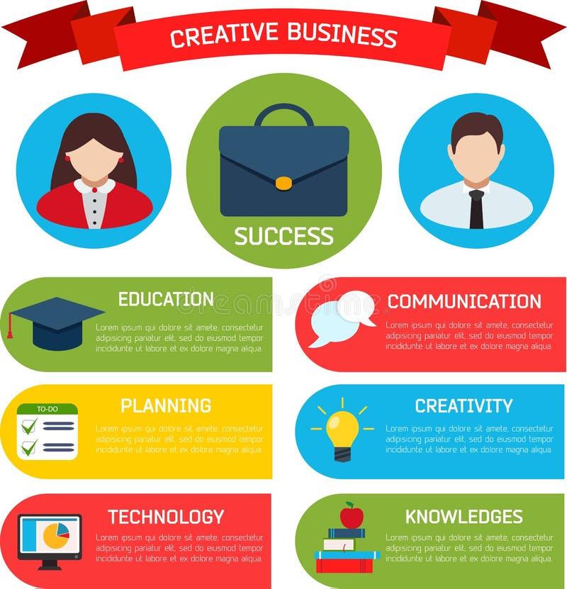 Fondo piano di Infographic di affari royalty illustrazione gratis