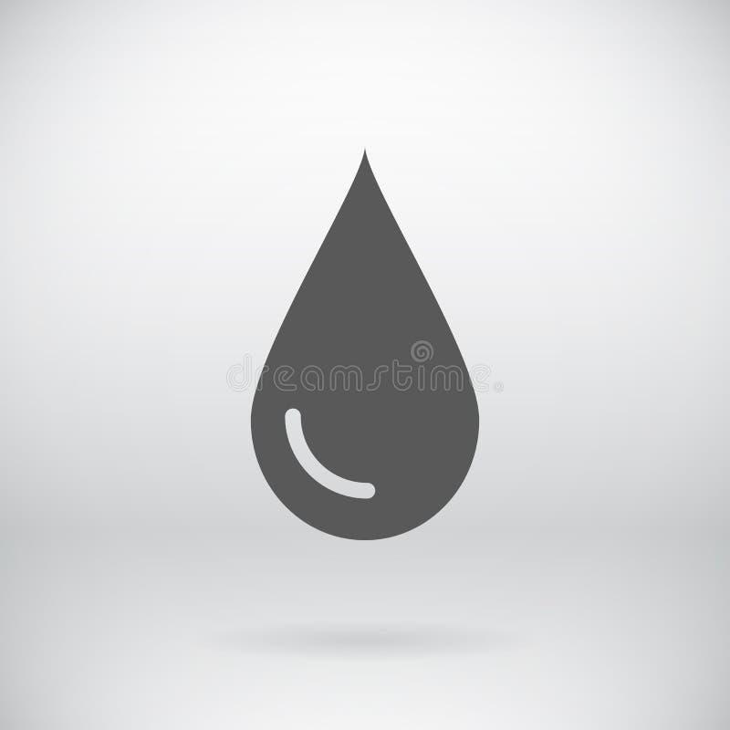 Fondo piano di simbolo di goccia di vettore del segno dell'acqua di risparmi illustrazione vettoriale