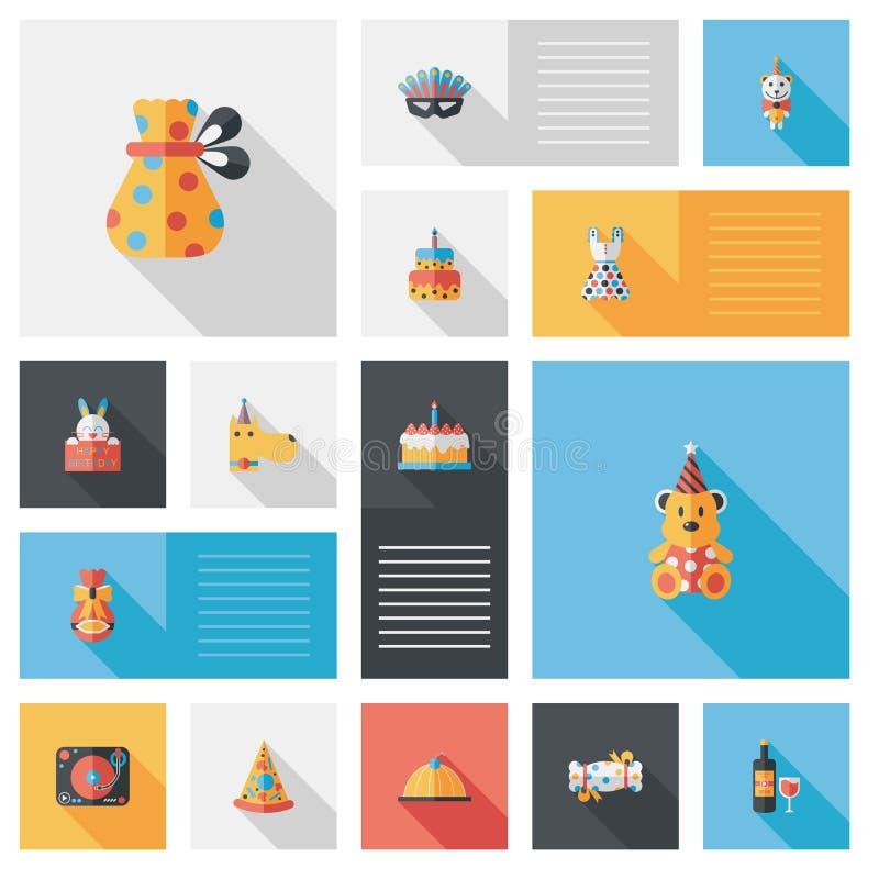 Fondo piano di ui di buon compleanno, eps10 illustrazione vettoriale