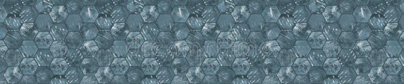 Fondo piastrellato panoramico Grungy (formato della scatola di lettera) illustrazione di stock