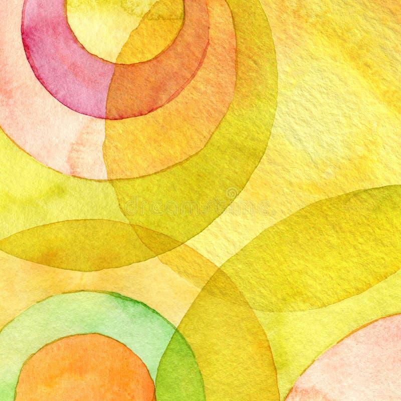 Fondo pintado acuarela abstracta stock de ilustración